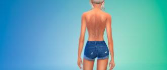 Шрамы на спине Jamie для Симс 4 – фото 1