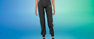 Спортивные штаны Adidas для девушек для Симс 4 – фото 1