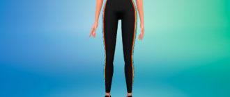 Спортивные штаны Adidas с полосками по бокам для Симс 4 – фото 1