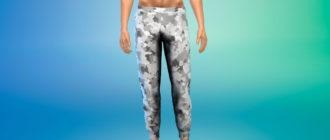 Спортивные штаны для парней для Симс 4 – фото 1
