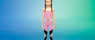 Спортивный костюм для девочек для Симс 4 – фото 1