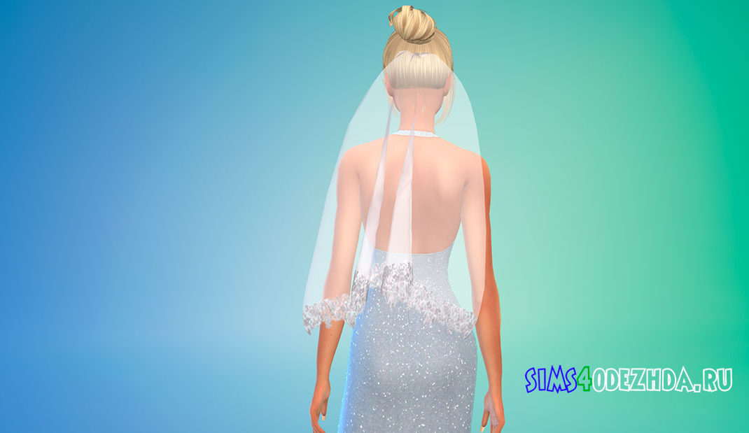 Свадебная фата для Симс 4 – фото 1