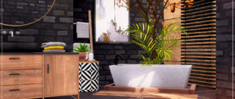 Ванная комната Autumn Loft для Симс 4 – фото 1