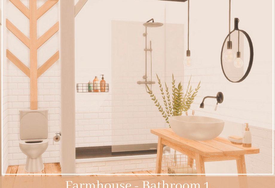 Ванная комната Farmhouse для Симс 4 – фото 1