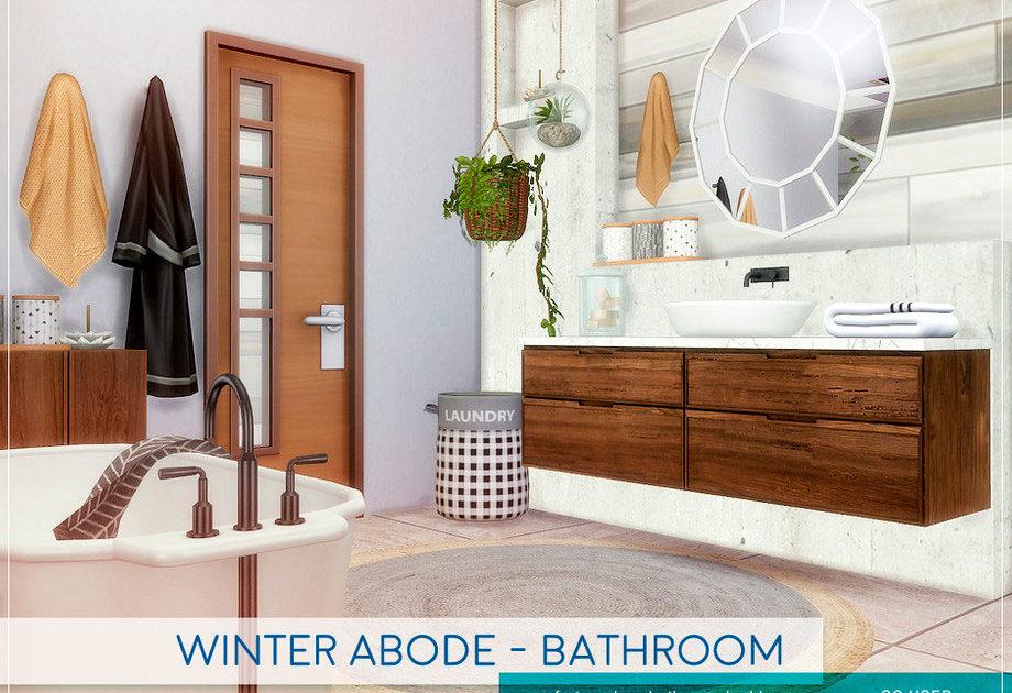 Ванная комната Winter Abode для Симс 4 – фото 1