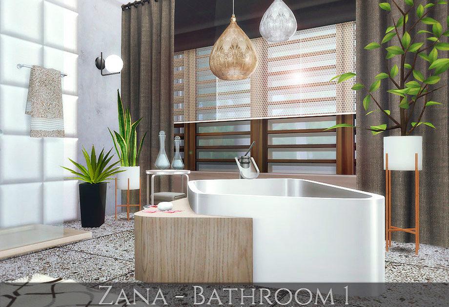 Ванная комната Zana 1 для Симс 4 – фото 1