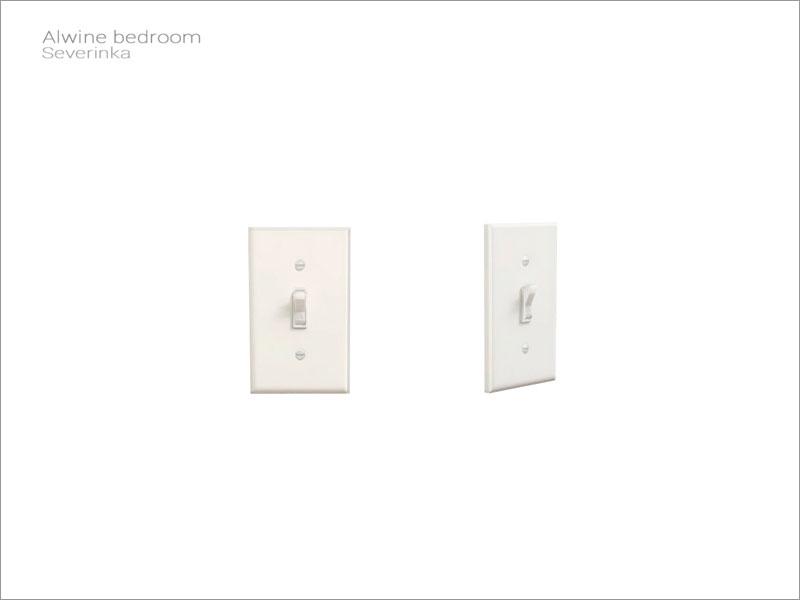 Выключатель белого цвета для Симс 4 – фото