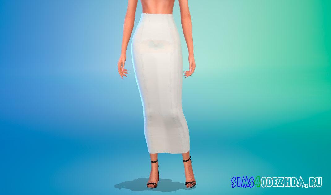 Длинная юбка для Симс 4 – фото 1