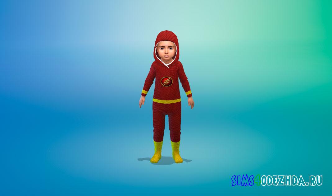 Комбинезоны с супергероями для малышей для Симс 4 – фото 1