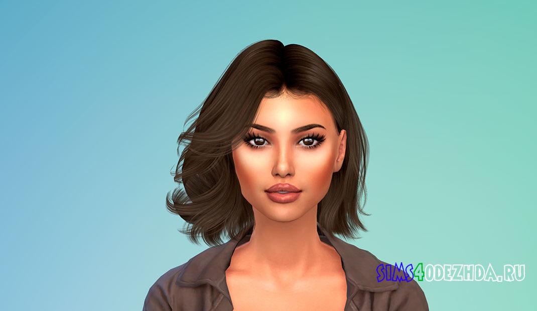 Короткие вьющиеся волосы для женщин для Симс 4 – фото 1