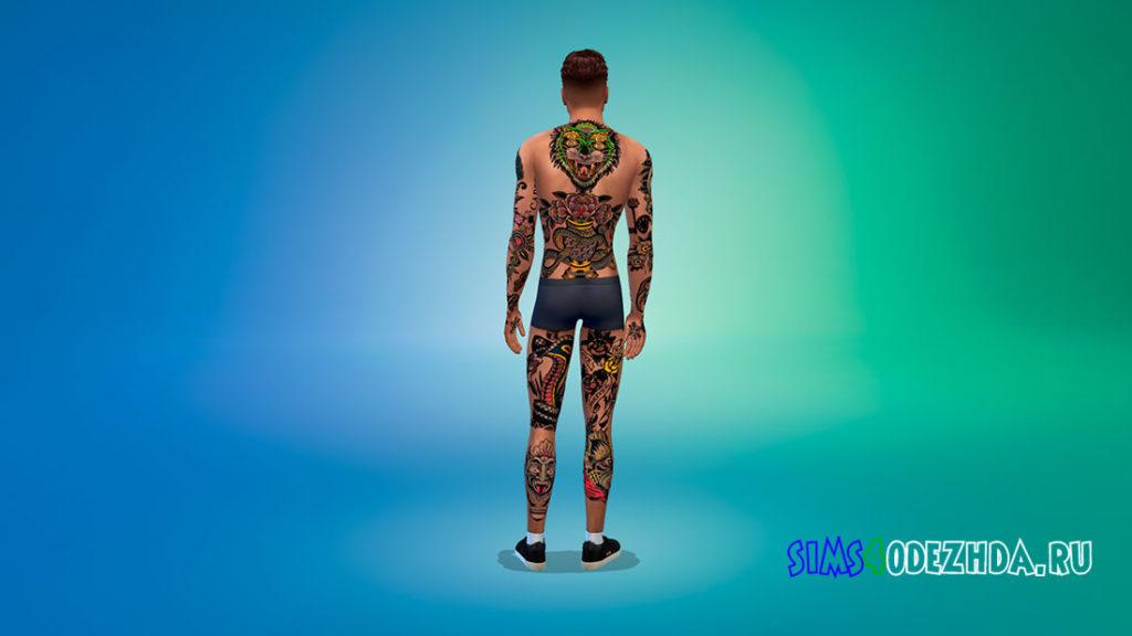 Крутое тату на все тело для Симс 4 – фото 3