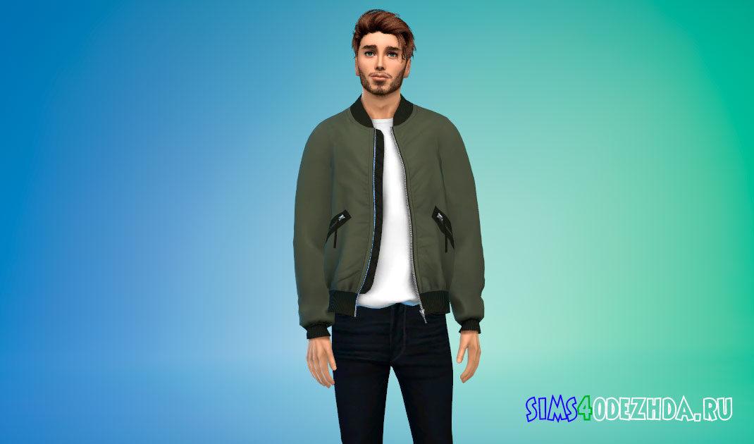 Куртка-бомбер Delson для Симс 4 – фото 1