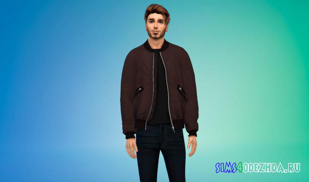 Куртка-бомбер Delson для Симс 4 – фото 2