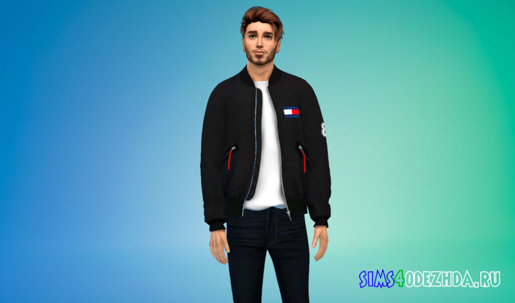 Куртка-бомбер Delson для Симс 4 – фото 3