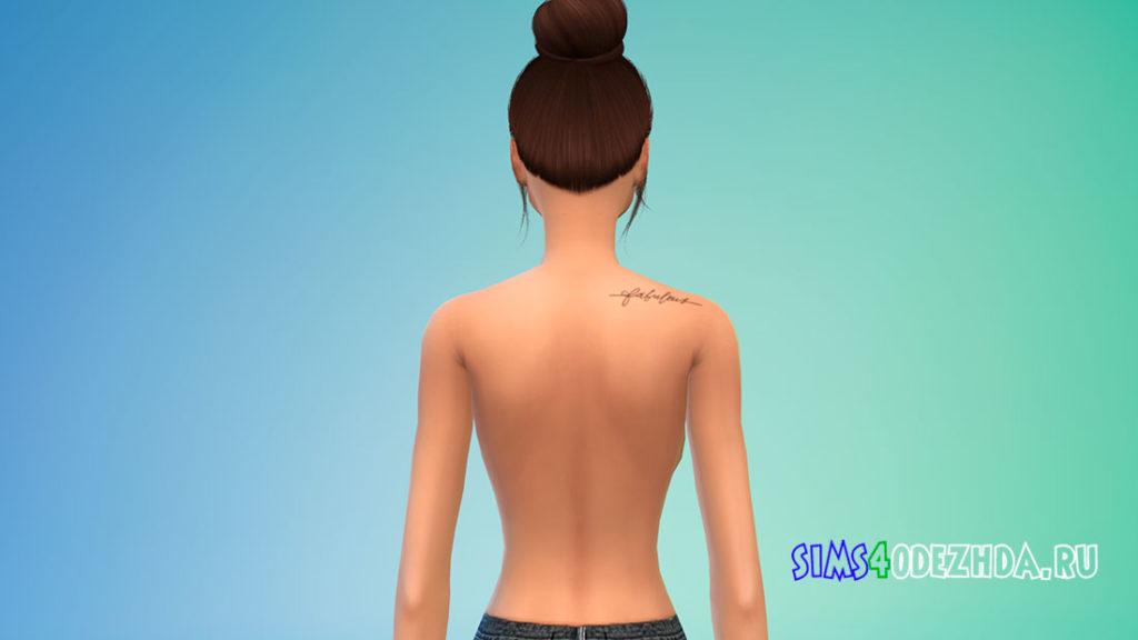 Маленькие тату на спине для Симс 4 – фото 3