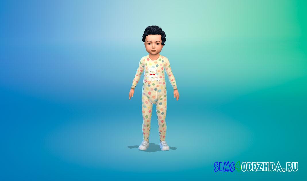 Милый комбинезон для малышей для Симс 4 – фото 1
