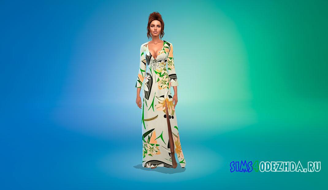 Платье Ланы Дель Рей для Симс 4 – фото 1