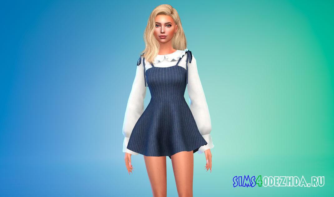 Платье с блузкой для Симс 4 – фото 1