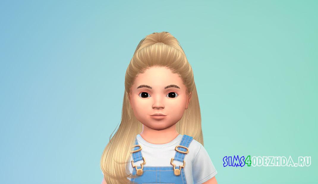Прическа для малышей Hair 27 для Симс 4 – фото 1