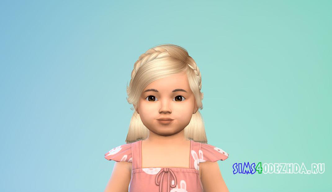 Прическа для малышей Heaven для Симс 4 – фото 1