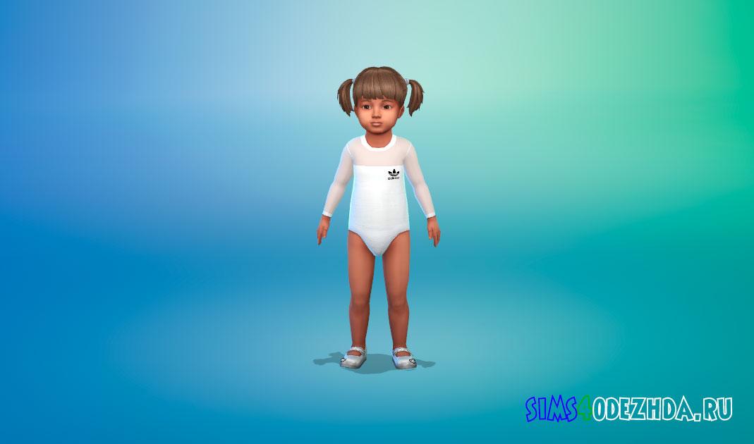 Спортивное боди для малышей для Симс 4 – фото 1
