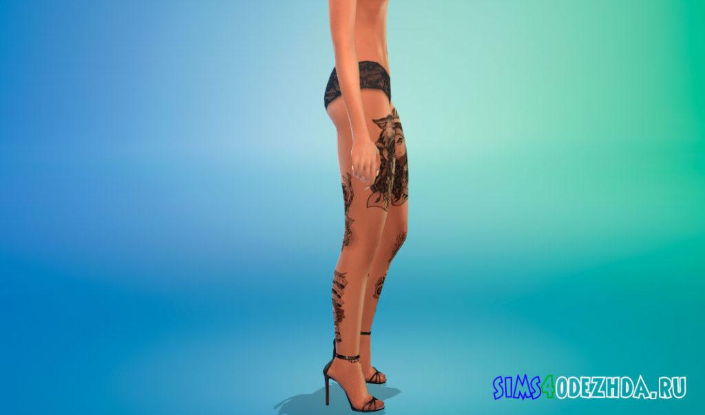 Татуировки на ногах для Симс 4 – фото 2