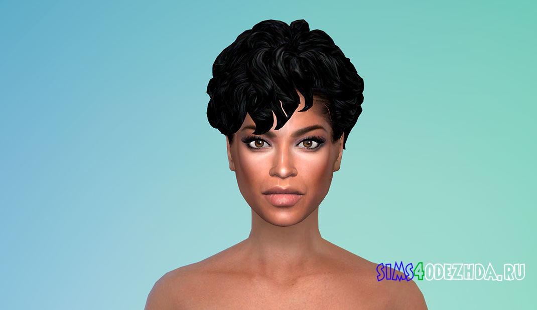 Женская прическа Mid Curly Bob для Симс 4 – фото 1